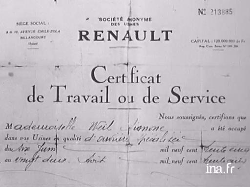 """Résultat de recherche d'images pour """"simone Weil Renault"""""""