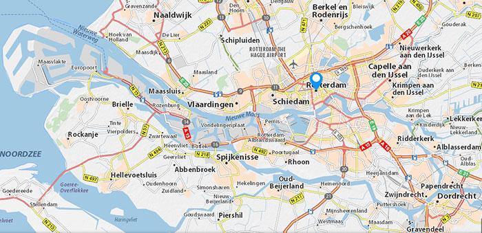 afficher l'image: Carte du port de Rotterdam